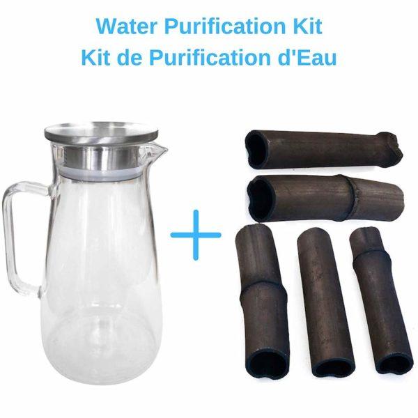 Kit purification eau Binchotan