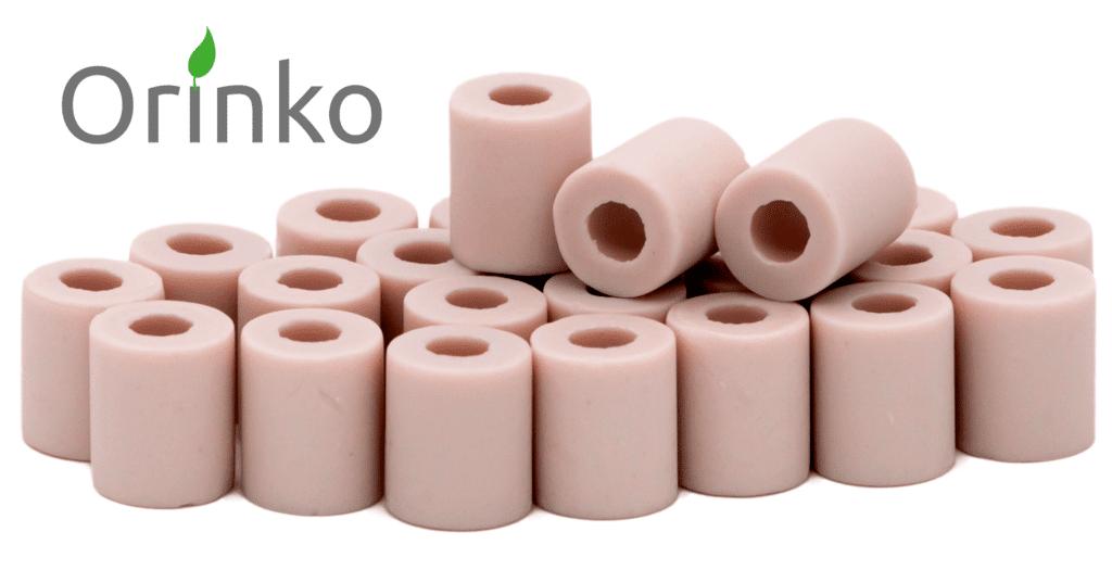 perles de céramique roses