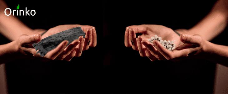 perles de céramique ou binchotan