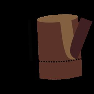 Étape 1 : enlever l'écorce