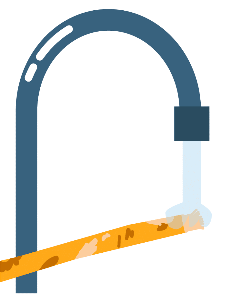 Rincer le siwak après utilisation